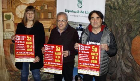 La Diputació de Lleida va acollir ahir la presentació de la marxa.