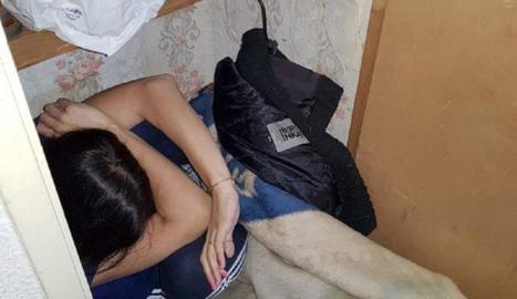 Imatge de la víctima quan va ser trobada pels agents.