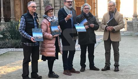L'acte de presentació del dossier definitiu de la candidatura del Turó de la Seu Vella a Patrimoni de la Humanitat.