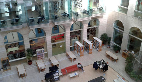 Una vista general de la Biblioteca Pública de Lleida.