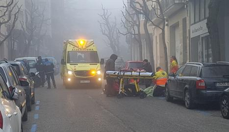Ferit lleu un motorista accidentat a Lleida