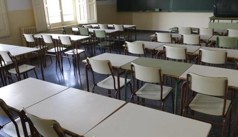L'aula d'un institut.