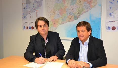 La signatura de l'acord