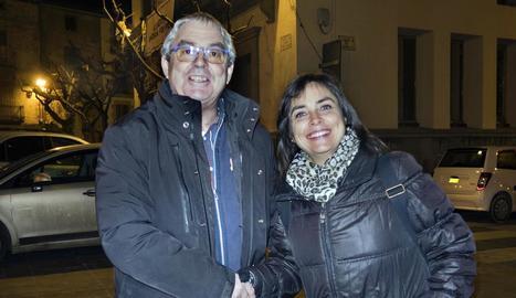 Josep Castella i l'alcaldessa Núria Magrans.
