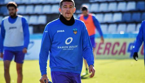 L'ucraïnès Ivan Zotko, ahir durant el seu primer entrenament amb el Lleida.