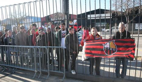 Una protesta recent de seguidors del Reus.