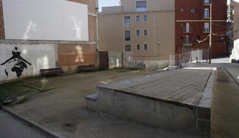 La zona en què s'edificaran els pisos per a joves.