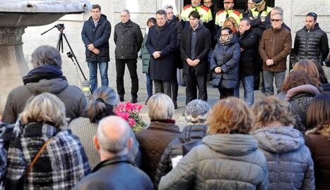Imatge de la concentració en honor a la víctima, ahir.