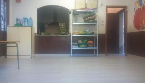 Imatge del nou terra del menjador escolar.