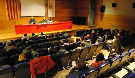 Imatge de l'assemblea d'UGT celebrada ahir a Mollerussa.