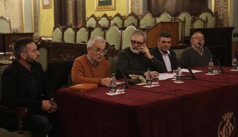 Ignasi Aldomà durant el pregó ahir a la Paeria.