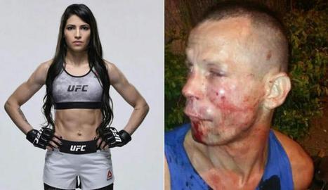 La lluitadora i l'atracador apallissat.