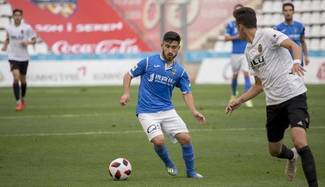 Leto, en un dels partits que ha jugat amb la samarreta del Lleida Esportiu.