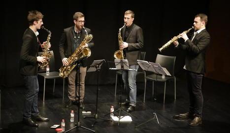 El quartet barceloní Kebyart Ensemble, a CaixaForum Lleida.