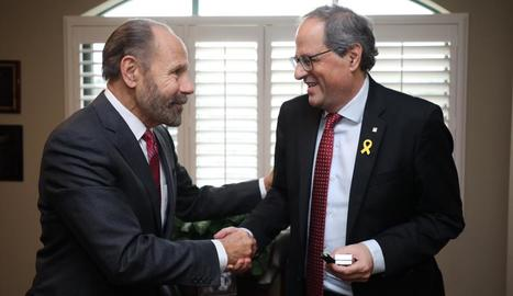 Torra també es va reunir amb el senador de Califòrnia, Jerry Hill.