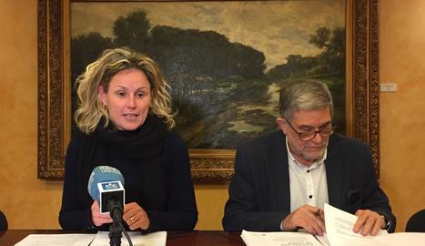 Mínguez i Farrero al respondre ahir a les crítiques de l'informe.