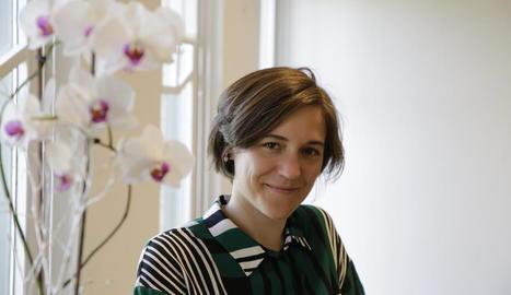 La cineasta Carla Simón, l'abril de l'any passat a Lleida.
