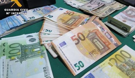 Diners recuperats en l'operació.