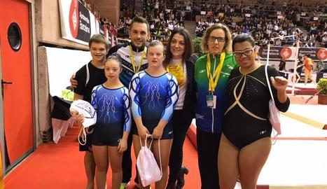 Les gimnastes del FEDAC Lleida.