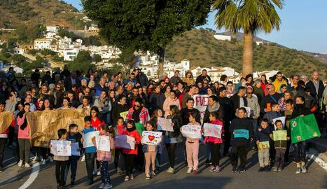 Veïns de Totalán se solidaritzen amb la família del nen.
