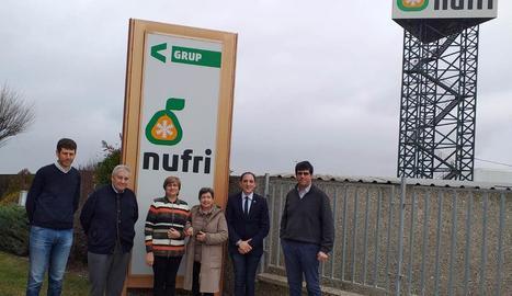 Imatge de la visita a les instal·lacions de Nufri a Mollerussa.