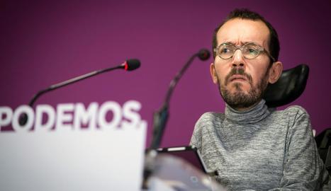 El secretari d'Organització de Podem, Pablo Echenique.