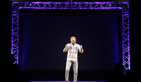 El popular actor i 'showman', ahir a Balaguer amb el seu monòleg 'Bona gent'.