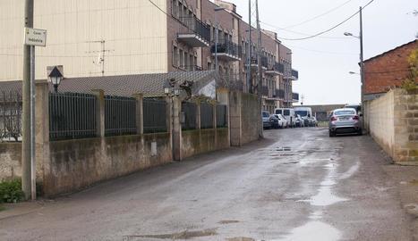 Vista actual del carrer Indústria.