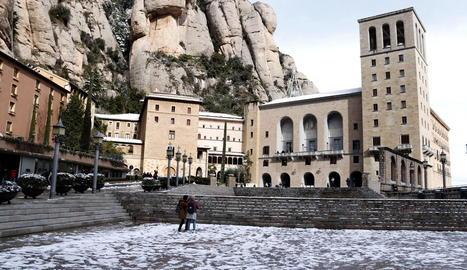 Imatge d'arxiu de l'abadia de Montserrat.
