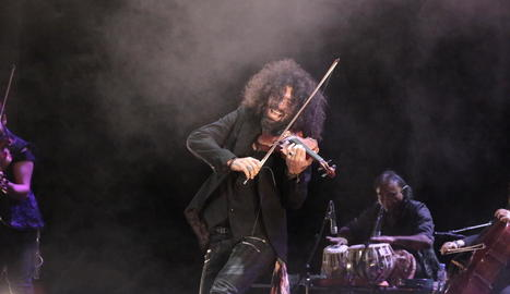 El violinista Ara Malikian, en el seu anterior concert a la Llotja de Lleida, el març de l'any passat.