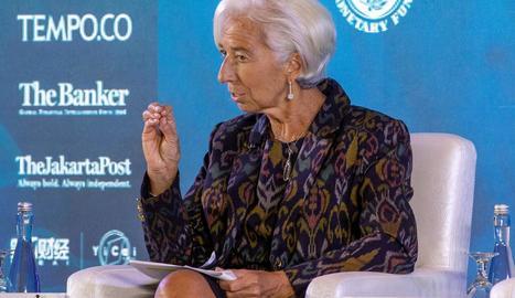 La directora gerent del Fons Monetari Internacional, Christine Lagarde.