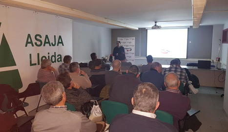 Imatge de la sessió informativa d'Agroseguro, ahir, a Lleida.