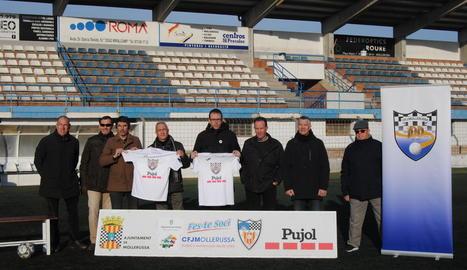Un moment de la presentació dels actes del centenari, ahir al Camp Municipal d'Esports.
