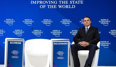 El president brasiler, Jair Bolsonaro, a la cimera de Davos.
