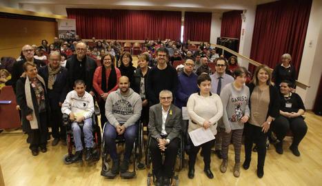 Les entitats lleidatanes van llegir un manifest el Dia de les Persones amb Discapacitat, el 3 de desembre.