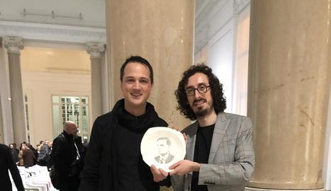 Marc Marzenit i Albert Barqué-Duran van rebre ahir el premi a la Galleria Nazionale d'Arte de Roma.