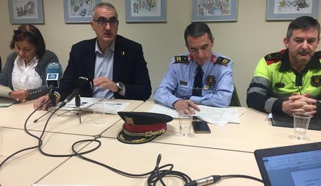 La roda de premsa del Servi Català de Trànsit per fer balanç de la sinistralitat a les carreteres de Lleida.