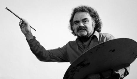 L'artista Josep Guinovart, en una imatge presa l'any 1983.