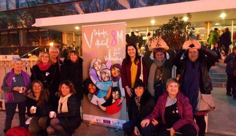 Mobilització l'any passat amb motiu del Dia Internacional de la Dona als carrers de Lleida.