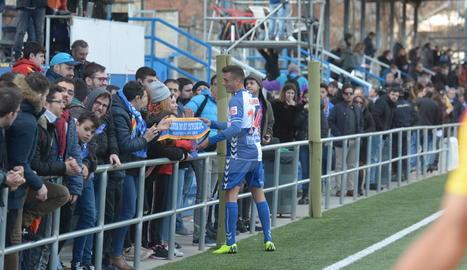 Marc Nierga es retroba amb l'afició del Lleida