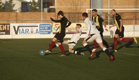 El Borges va manar a la segona part però la falta d'encert va impedir que s'emportés la victòria.
