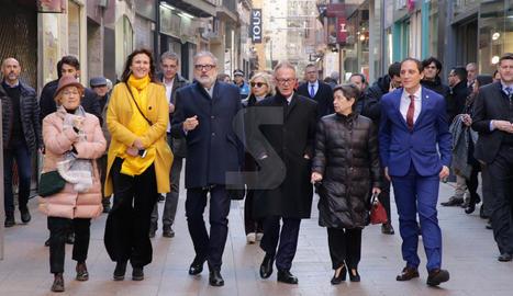 Inauguración de las obras del Museu d'Art de Lleida