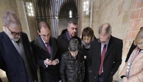 El ministre de Cultura, José Guirao, també va visitar ahir la Seu.