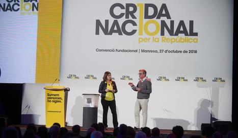 Toni Morral i Gemma Geis, al congrés fundacional de la Crida de l'octubre passat a Manresa.