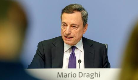 Imatge del president del Banc Central Europeu, Mario Draghi.