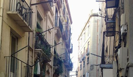 Imatge del carrer la Palma, on va tenir lloc l'okupació.