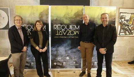 Presentació ahir a l'IEI del 'Rèquiem' en homenatge a Lluís Virgili.