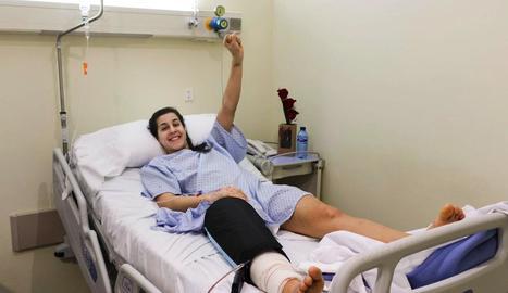 Marín, ahir a l'hospital després de ser intervinguda del genoll.