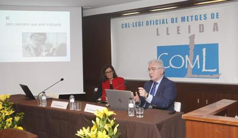 La jornada sobre eutanàsia, ahir al Col·legi de Metges de Lleida.