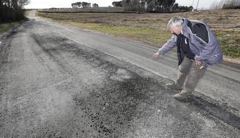 """Denuncien que la reparació del camí de la Saira és un """"nyap"""""""